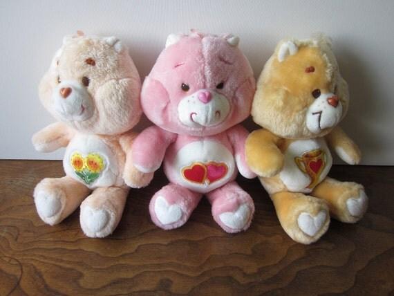 Vintage Care Bear Plush - Friend, Love-A-Lot, Champ