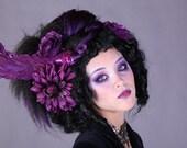 black and purple rococo Victorian goth steampunk pirate gypsy wig
