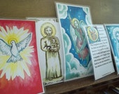Prayer Cards. Our father, Hail Mary, Holy Spirit, St. Joseph, Guardian Angel FREE SHIPPING