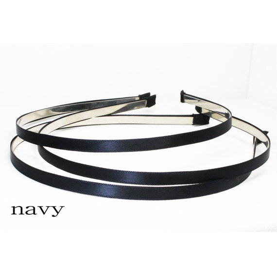 FLB-02/ 3PCS-5MM  satin headband -navy