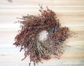 PRIMITIVE Broom Corn Wreath - Country Farmhouse Style Decor - Beiges and Browns