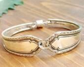 CLASSIC BEAUTY- Upcycled Floral Silverware Bracelet Sz SM