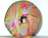 Feza Papillon novelty ribbon yarn, 1 ball orange multi color knit, crochet, bulky