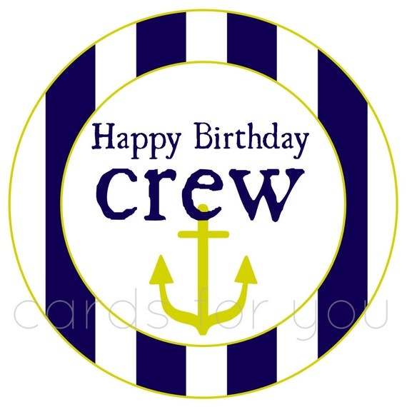 Items Similar To Round Happy Birthday Stickers-nautical On