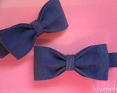 AMANDA- 2 jersey bow clips