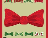 Digital Clip Art - Christmas Bows - 20 Bows with Christmas Patterns