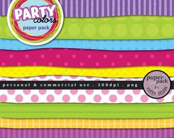 Digital Paper Pack - Fun Party Colors
