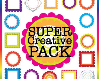 Super Creative Pack Digital Frames - 160 individual png files