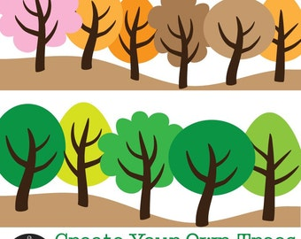 Digital Clip Art - Create Your Own Trees