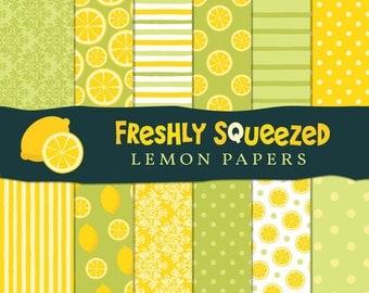 Digital Paper Pack - Freshly Squeezed Lemon