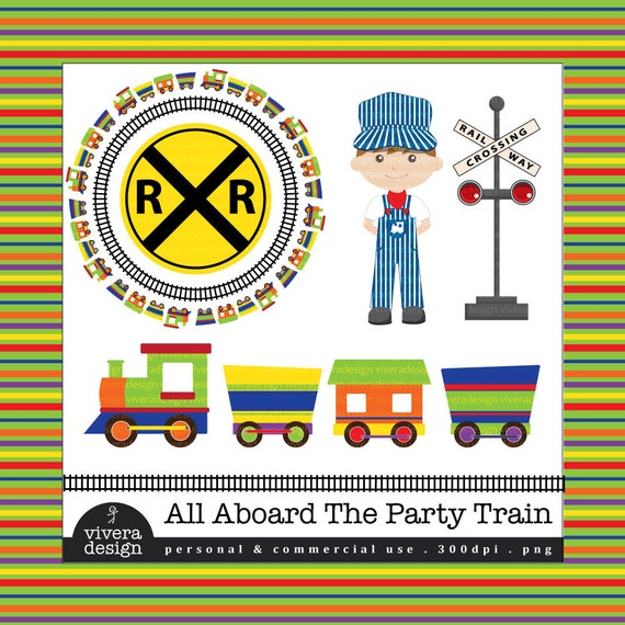 Items similar to All Aboard the Party Train - Digital Clip ...