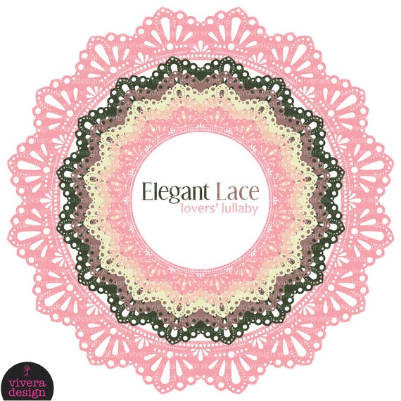 Circle Frames - Elegant Lace - Lovers' Lullaby
