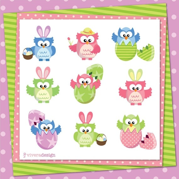 free easter owl clip art - photo #41