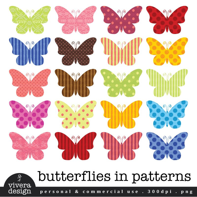 Transparent Butterfly Clipart