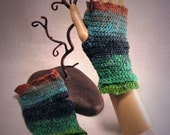 Warm and Colorful Handmade Fingerless Gloves FREE SHIPPING
