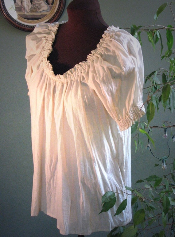 Short Sleeved Peasant Style Blouse