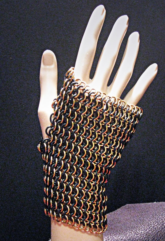 The Sucker Punch Steampunk Chainmaille Fingerless Glove