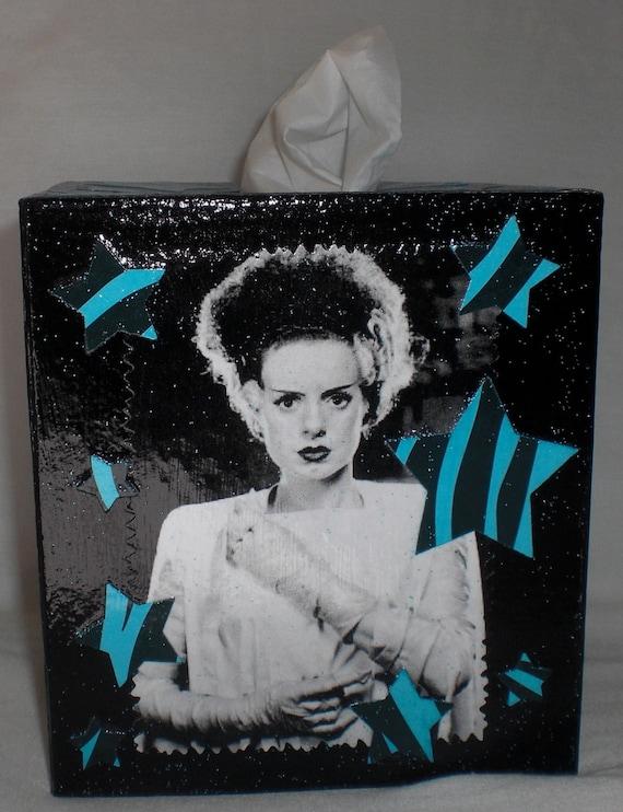 The Bride of Frankenstein Tissue Box Holder Cover