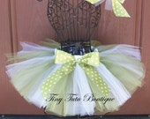 Sweet Green Apple- green and white polka-dot infant/child tutu with FREE hairbow- 0-3months,3-6months,6-12months,12-24months