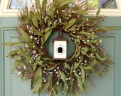 Summer Wreath - Mothers Day Wreath - Wreath for Door