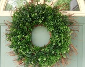 Summer Wreath - Boxwood Wreath - Year Round Wreath