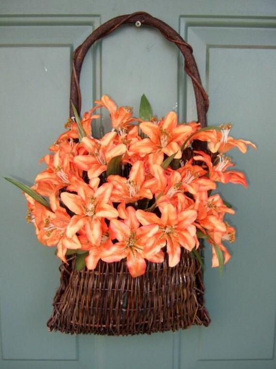 Summer Wreath - ON SALE - Summer Door Basket - Mothers Day Wreath