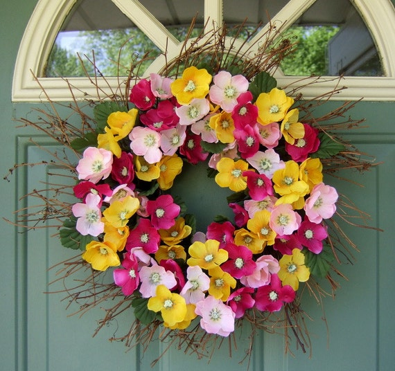 Summer Wreath - Mothers Day Wreath - Spring Wreath