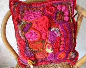 Crochet Pattern FREEFORM Pandoras Cushion Pillow Tutorial PDF
