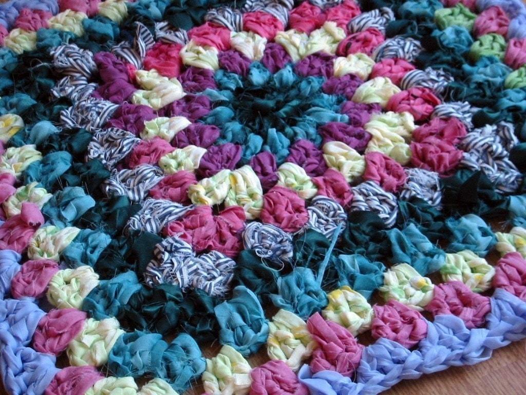 Crochet Pattern Rag Rug Vintage Style Shabby Chic Granny Pdf
