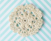 Soft Ecru Doily Pin