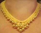 Buttery Yellow  Pearls Necklace