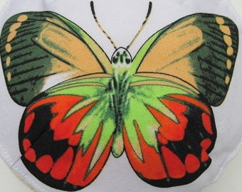 Red, Yellow, and Green Butterfly Kippah