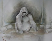 Gorilla - an original painting