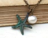 Star Fish Turquoise Necklace