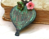 Sweet Hot Air Balloon Charm Necklace