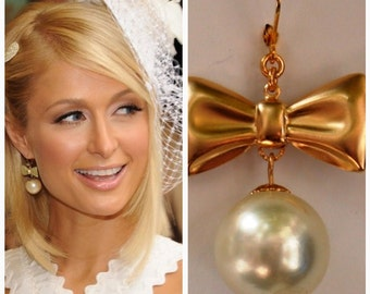 Paris Hilton Inspired Gorgeous Pearl Earrings