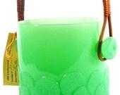 Rare Vintage Jadeite Clambroth Ice Bucket
