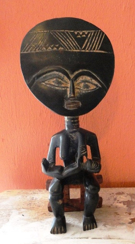 Vintage African Akuaba Fertility Statue
