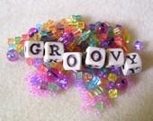 GROOVY - Ceramic Alphabet Beads and a Pastel Rainbow Mix