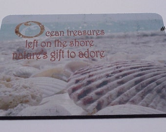 Mouse Pad - Ocean Treasures / Sea SHELLS - Beach Cottage