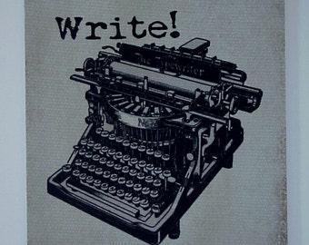 Mouse Pad - WRITE Vintage Typewriter