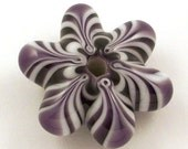Bluish-Purple and White Star Bead