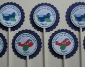 Airplane Party Custom Cupcake Toppers - My Little Co-Pilot Collection from Tea Party Designs