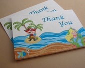 Pirate and Mermaid Party Custom Thank You Notes - Treasure Cove Collection