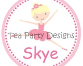 Ballet Party Custom Iron-on Shirt Transfer DIGITAL FILE - My Little Ballerina Collection from Tea Party Designs