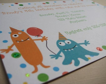 Monster Birthday Party Custom Invitations...My Little Monster Collection