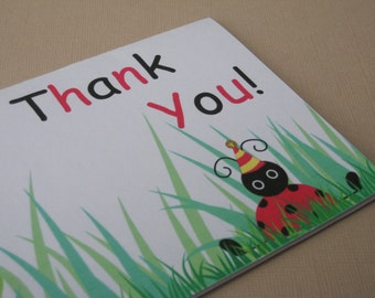 Ladybug Party Thank You Notes - My Little Buggy Collection