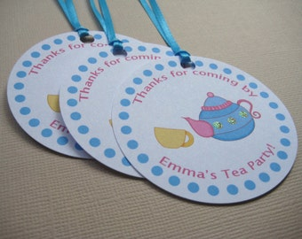Tea Party Custom Favor Tags - Wonderland Tea Party Collection