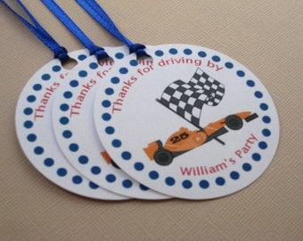 Racing Party Custom Favor Tags - Little Speedster Collection