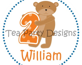 My Little Birthday Bear...Personalized Party Iron-on Shirt Transfer